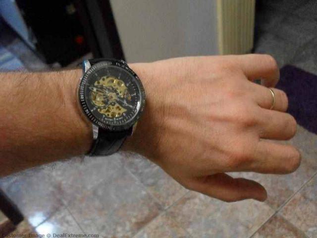 Pánské hodinky Luxury Ik Winner Automatic zlaté 07fb45c63c